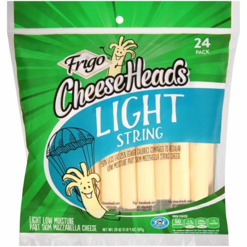 Frigo Cheese Heads Light Mozzarella String Cheese Perspective: front