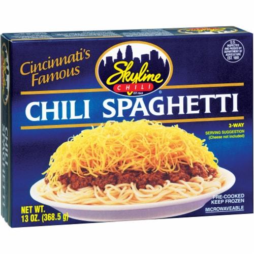 Skyline Chili Spaghetti Perspective: front