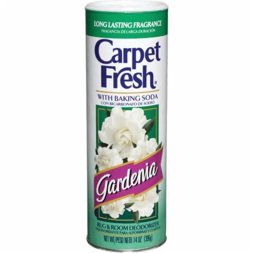 Carpet Fresh  Gardenia Scent Carpet Odor Eliminator  14 oz. Powder - Case Of: 1; Perspective: front