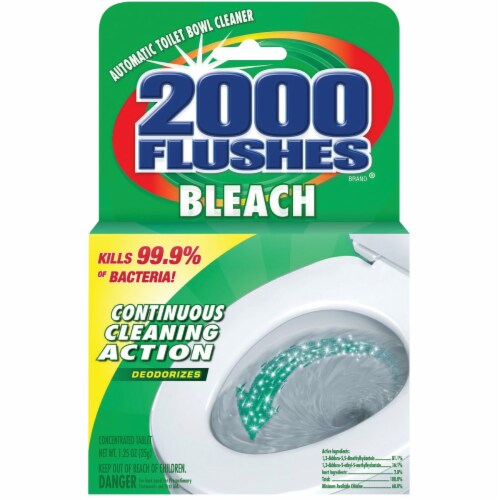 2000 Flushes  Clean Scent Automatic Toilet Bowl Cleaner  1.25 oz. Tablet - Case Of: 1; Perspective: front