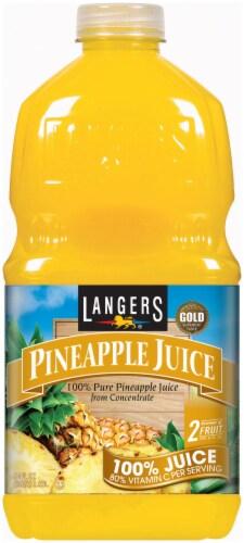 Langers 100% Pineapple Juice Perspective: front