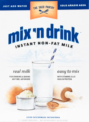 Saco Mix'n Drink Fat Free Skim Milk Perspective: front