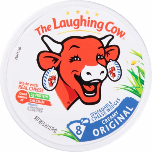 The Laughing Cow Original Creamy Swiss Spreadable Cheese Wedges Perspective: front