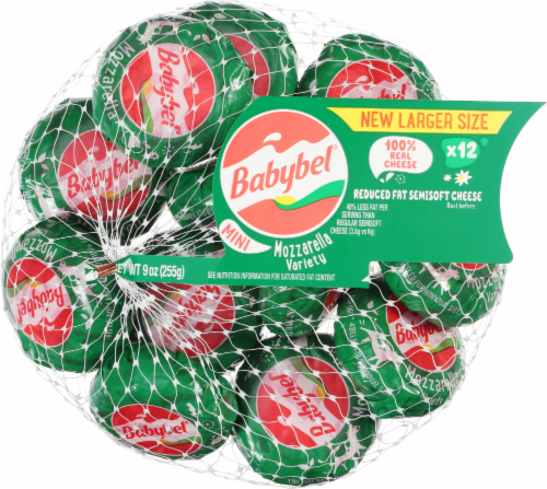 Mini Babybel Reduced Fat Semisoft Cheese Perspective: front