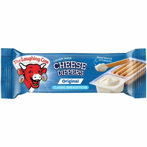 The Laughing Cow Cheese Dippers Creamy Swiss with Classic Breadsticks Perspective: front
