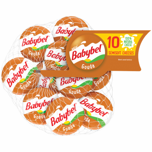 Mini Babybel Gouda Semisoft Cheese 10 Count Perspective: front
