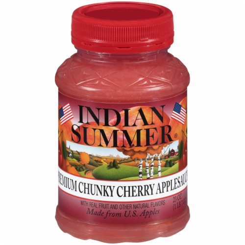 Indian Summer Premium Chunky Cherry Aoolesauce Perspective: front