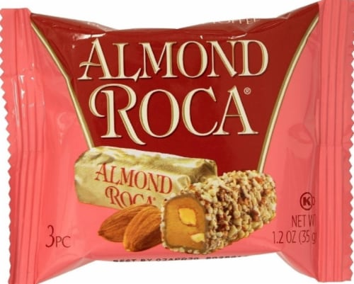 Brown & Haley Almond Roca Buttercrunch Toffee Candy Perspective: front
