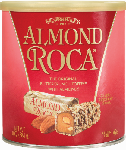 Brown & Haley Almond Roca Buttercrunch Toffee Perspective: front