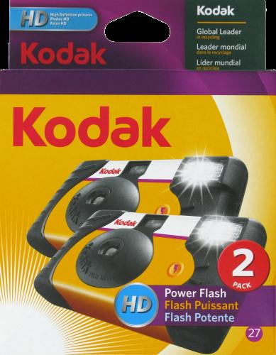 Kodak Power Flash Disposable Camera Pack - Black Perspective: front
