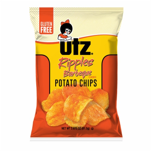 Utz Ripples Barbeque Gluten Free Potato Chips Perspective: front