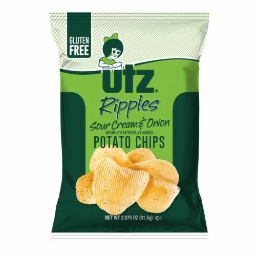 Utz Ripples Sour Cream & Onion Gluten Free Potato Chips Perspective: front