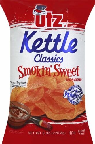 Utz Kettle Classic Smokin' Sweet Potato Chips Perspective: front