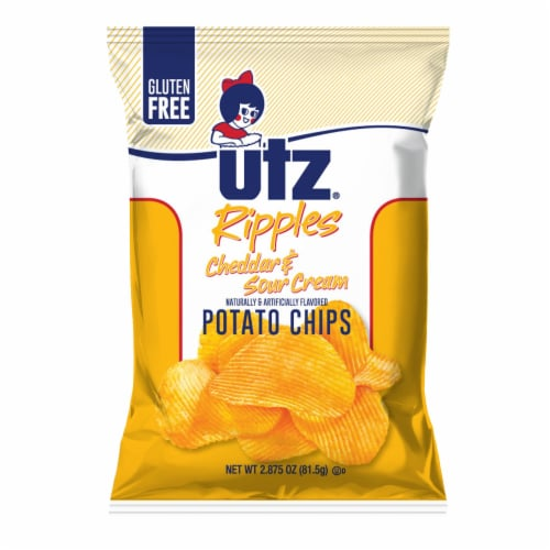 Utz Ripples Cheddar & Sour Cream Potato Chips Perspective: front