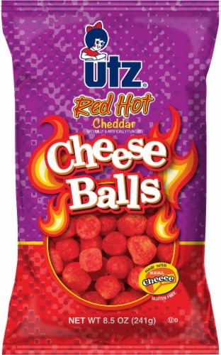 Utz Red Hot Cheddar Cheese Balls Perspective: front