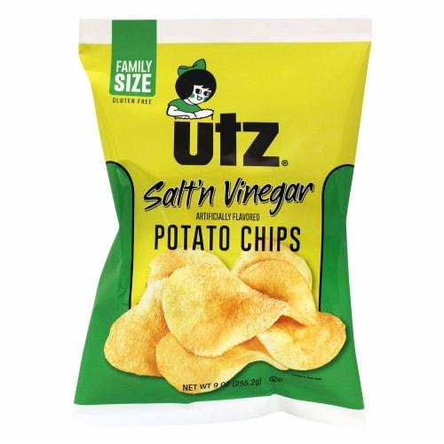 Utz Salt & Vinegar Potato Chips Perspective: front