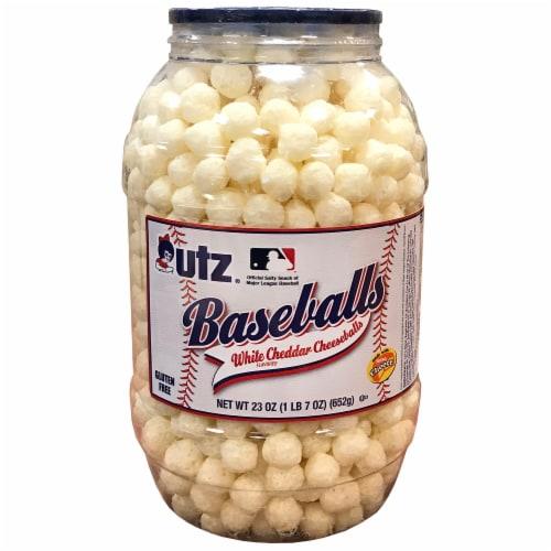 Utz Baseball Barrel - White Cheddar Perspective: front