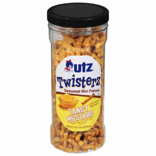 Utz Twisterz Tangy Mustard Seasoned Mini Pretzels Perspective: front