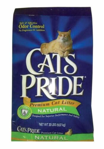 Cat's Pride No Scent Cat Litter 20 lb. - Case Of: 1; Perspective: front