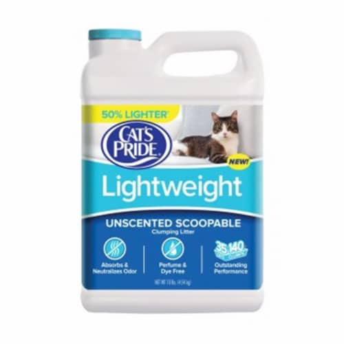 Cat's Pride No Scent Scoopable Cat Litter 10 lb. - Case Of: 1; Perspective: front