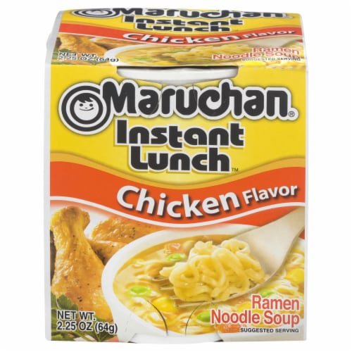 Maruchan Instant Lunch Chicken Flavor Ramen Noodle Soup Perspective: front