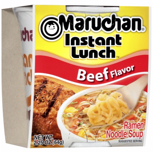 Maruchan Instant Lunch Beef Flavor Ramen Noodle Soup Perspective: front
