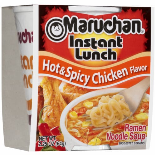 Maruchan Instant Lunch Hot & Spicy Chicken Flavor Ramen Noodle Soup Perspective: front