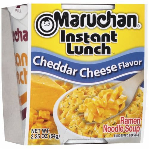 Maruchan Instant Lunch Chedder Cheese Flavor Ramen Noodle Soup Perspective: front