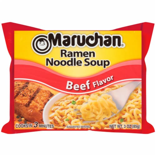 Maruchan Beef Flavor Ramen Noodle Soup Perspective: front