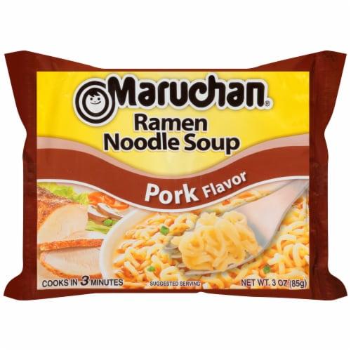 Maruchan Pork Flavor Ramen Noodle Soup Perspective: front