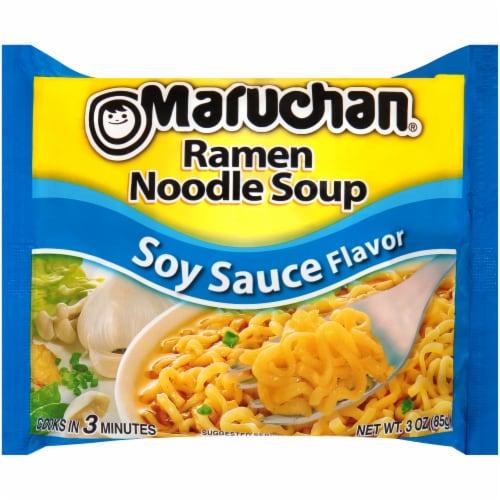 Maruchan Soy Sauce Ramen Noodle Soup Perspective: front
