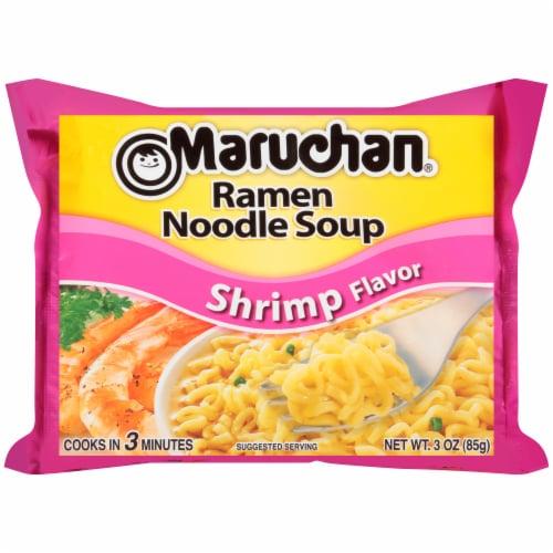 Maruchan Shrimp Ramen Noodle Soup Perspective: front