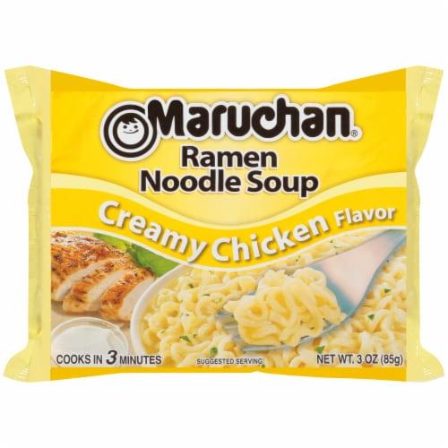 Maruchan Creamy Chicken Flavor Ramen Noodle Soup Perspective: front
