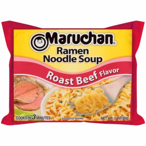 Maruchan Roast Beef Flavor Ramen Noodle Soup Perspective: front