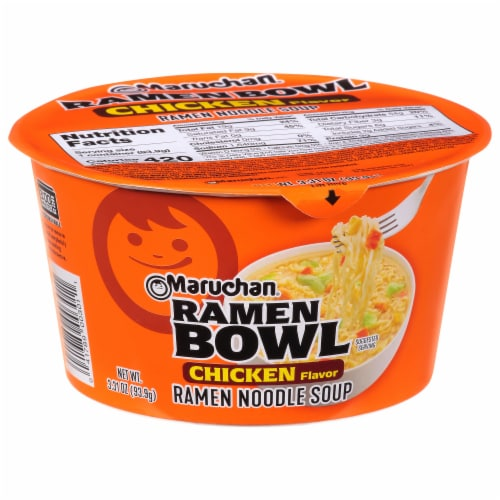 Maruchan Chicken Flavor Ramen Noodles With Vegetables Bowl Perspective: front