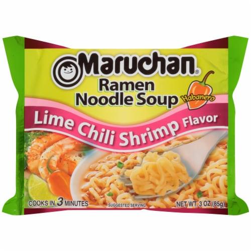 Maruchan Lime Chili Shrimp Ramen Noodle Soup Perspective: front