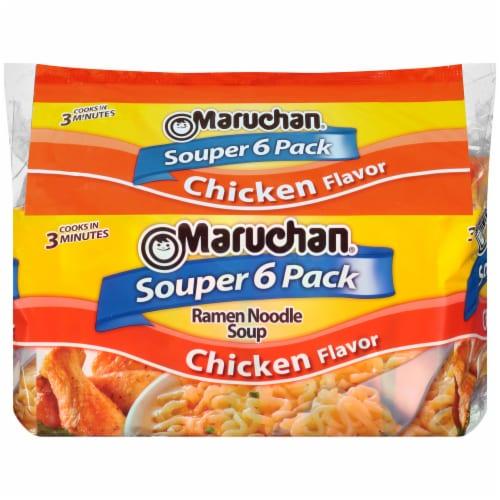 Maruchan Chicken Flavor Ramen Noodle Soup Perspective: front