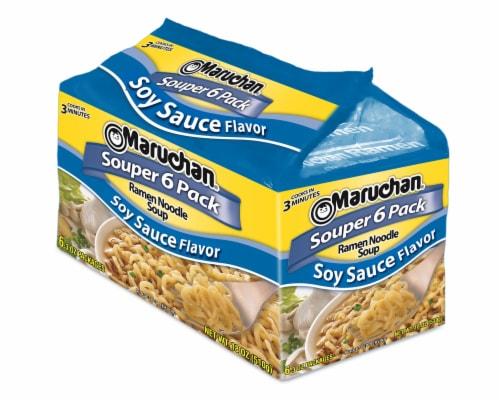 Maruchan Ramen Souper 6-Pack Oriental Flavor Noodle Soup Perspective: front