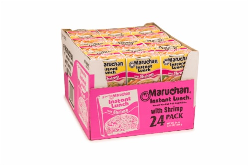 Maruchan Instant Lunch With Shrimp Ramen Noodles with Vegetables 24 Count Perspective: front