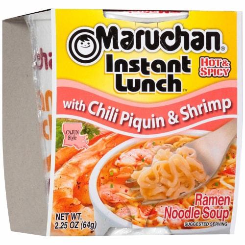 Maruchan Instant Lunch Chili Piquin & Shrimp Ramen Noodle Soup Perspective: front
