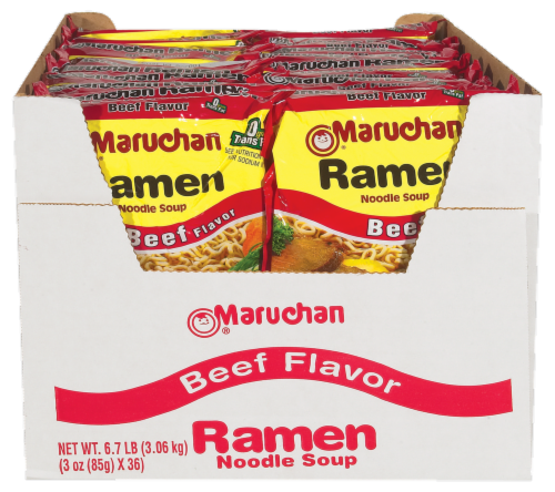 Maruchan Beef Ramen Noodles Club Pack Perspective: front