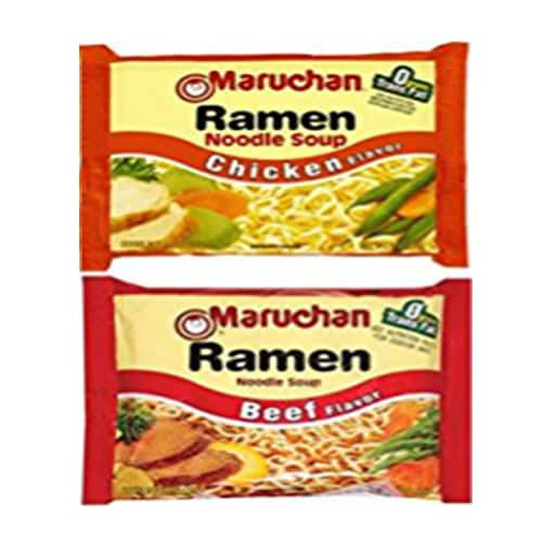 Maruchan Ramen Chicken & Beef Instant Lunch Case Perspective: front