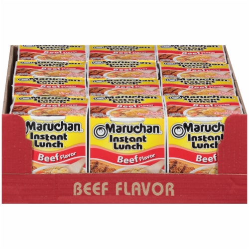 Maruchan® Instant Lunch™ Beef Ramen Noodle Soup Perspective: front