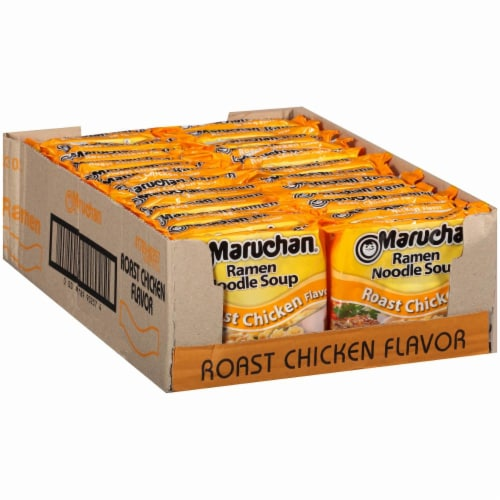 Maruchan Roast Chicken Ramen Noodle Soup Perspective: front