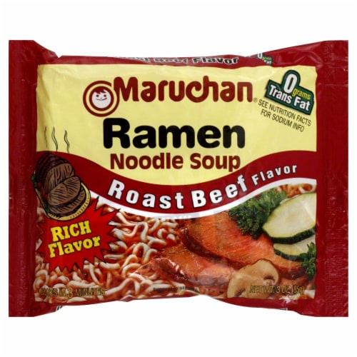 Maruchan Roast Beef Ramen Noodle Soup Perspective: front
