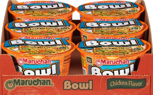 Maruchan Bowl Chicken Flavor Ramen Noodle Soup Perspective: front