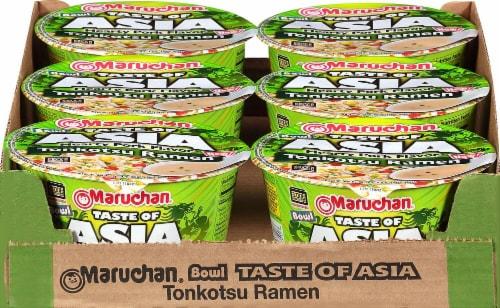 Maruchan Bowl Taste of Asia Tonkotsu Ramen Noodle Soup Perspective: front