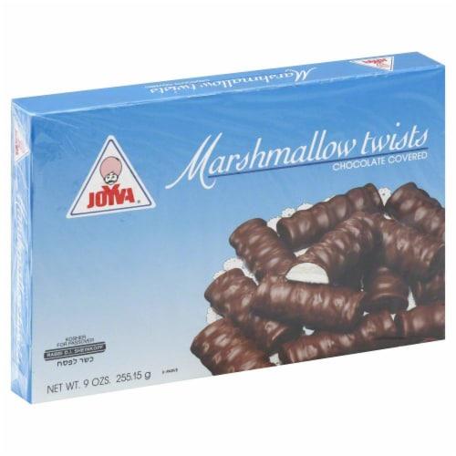 Joyva Chocolate Covered Vanilla Marshmallow Twists Perspective: front