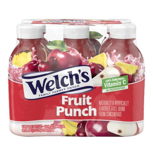 Welch's Fruit Punch Juice Drink Perspective: front