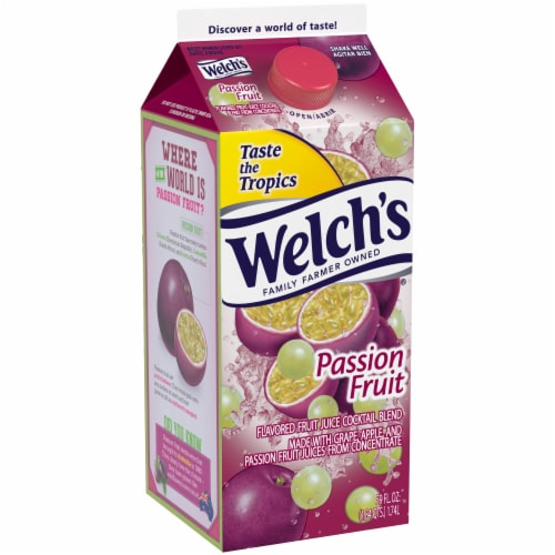 Welch's Passion Fruit Flavored Fruit Juice Cocktail Blend Perspective: front